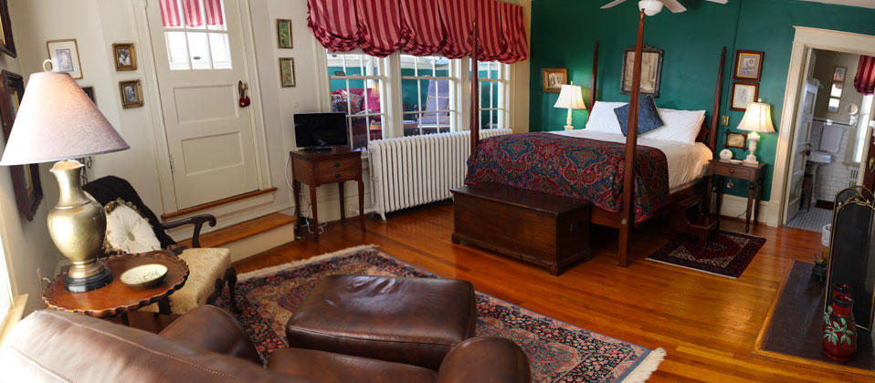 First bedroom suite at the Inn at Burwell